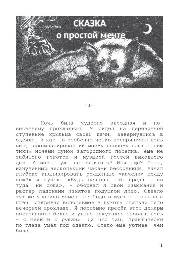 thumbnail of Сказка о простой мечте